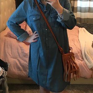Blue Jean dress and cross body purse bundle
